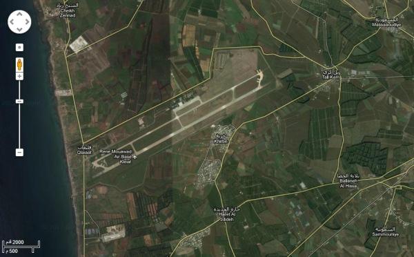 مطار القليعات عبر Google Earth