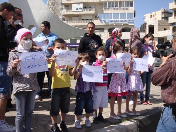 إحتجاجات على تخزين الفحم الحجري في مرفأ طرابلس – نيسان 2012