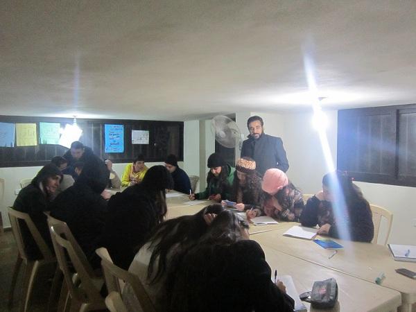 اللقاء مع الشباب في جمعية لبنان المحبة