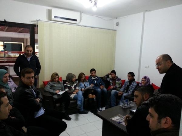 اللقاء مع الشباب في مقر المركز اللبناني لتعزيز المواطنية
