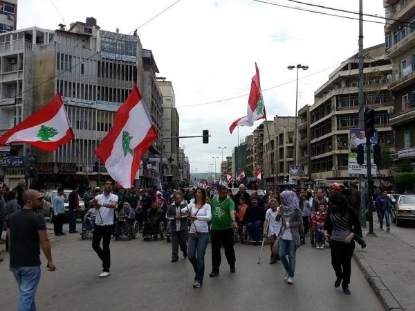 من تحركات المجتمع المدني في طرابلس للمطالبة بالسلم الأهلي
